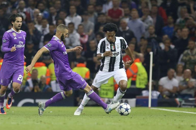 Juan Cuadrado sous les couleurs de la Juventus Turin face au Real Madrid, le 3 juin 2017 en finale de la Ligue des champions