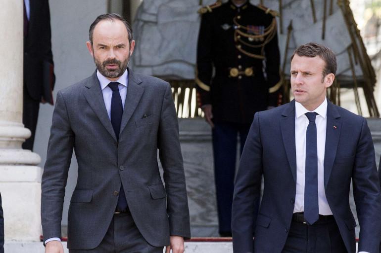 Edouard Philippe et Emmanuel Macron à l'Élysée le 23 mai 2017.