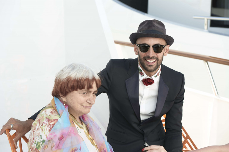 Agnès Varda et JR à Cannes le 14 mai 2017.