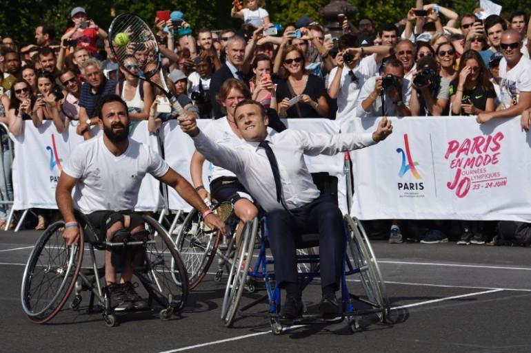 Emmanuel Macron a donné de sa personne lors des journées de promotion de la candidature parisienne aux JO-2024