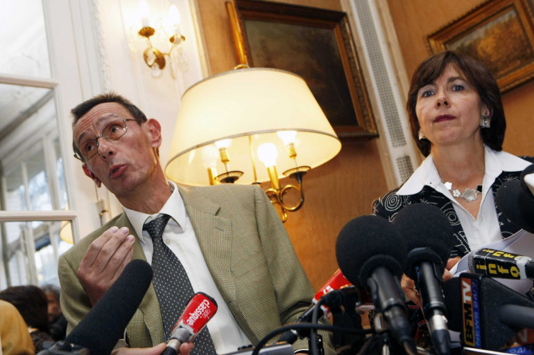 Thierry Moser et Marie-Christine Chastant-Morand, les avocats des époux Villemin.