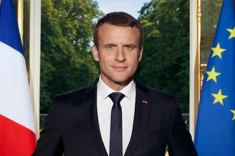 Le portrait officiel d'Emmanuel Macron