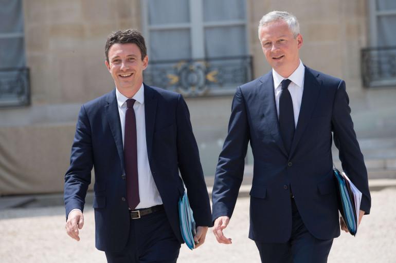 Benjamin Griveaux et Bruno Le Maire à Matignon, le 22 juin 2017