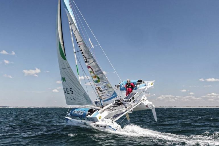 """""""Ma Louloutte"""", le catamaran d'Yvan Bourgnon"""