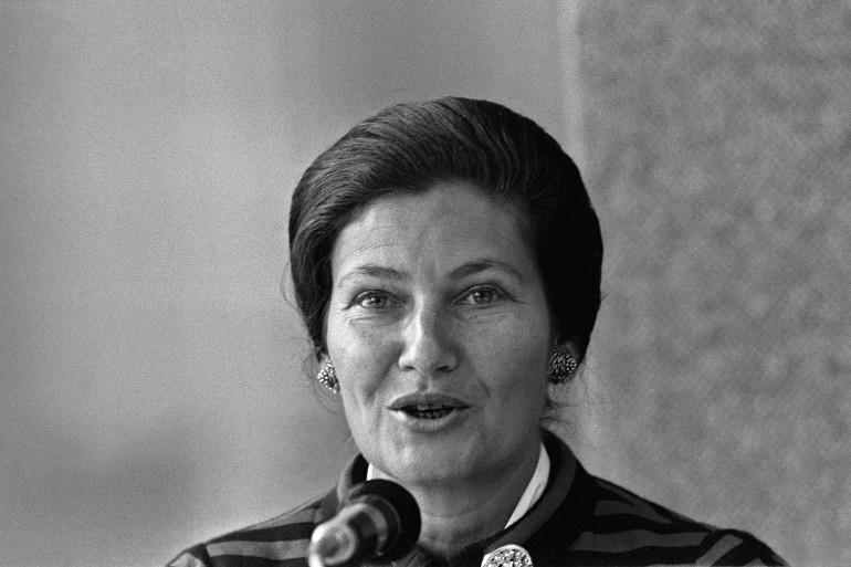 Simone Veil le 16 septembre 1976 à Paris