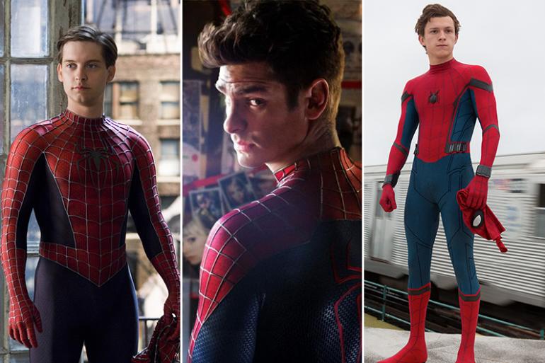 Tobey Maguire, Andrew Garfield et Tom Holland ont été les Spider-Man du grand écran