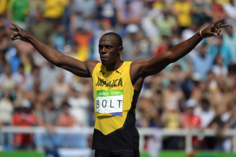 Le Jamaïcain Usain Bolt lors des Jeux Olympiques de Rio