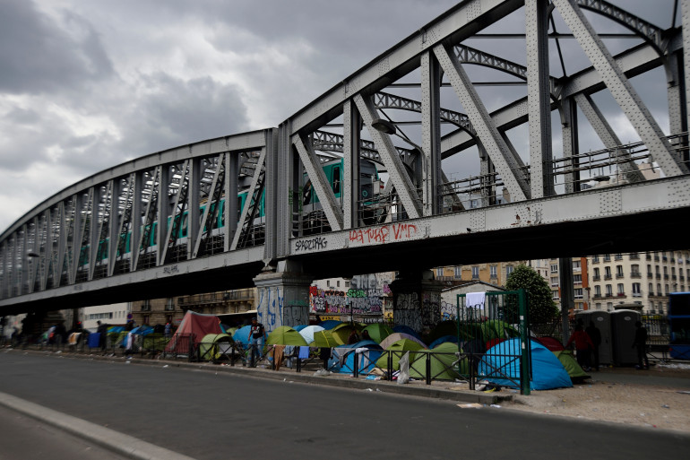 Le camp de migrants de la Porte de La Chapelle a été évacué début juin