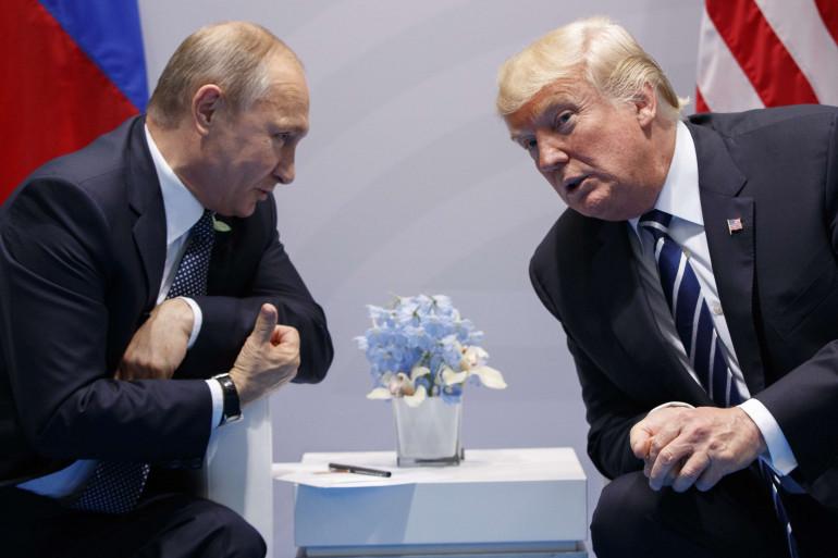 Vladimir Poutine et Donald Trump lors du G20 à Hambourg en juillet 2017