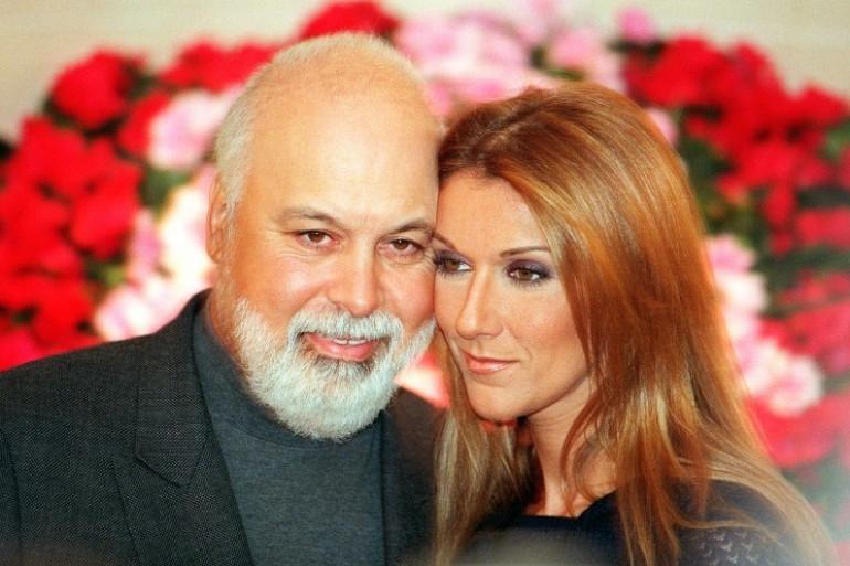 René Angelil et Céline Dion, le 16 novembre 1999 à Paris