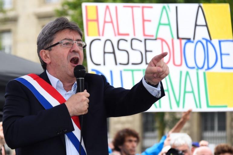 Jean-Luc Mélenchon, leader de la France Insoumise, le 12 juillet 2017 à Paris
