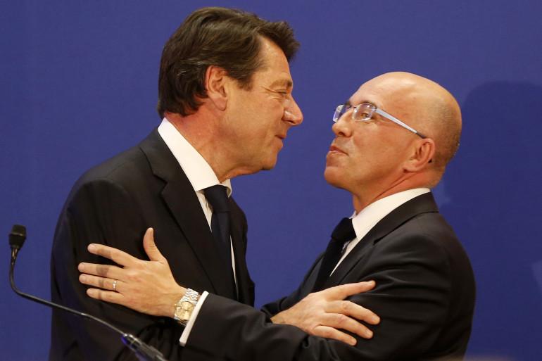 Christian Estrosi et Éric Ciotti en décembre 2015 à Nice