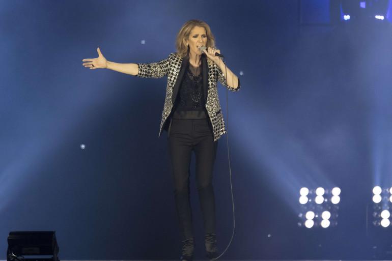 Céline Dion en concert à Nice le 20 juillet 2017
