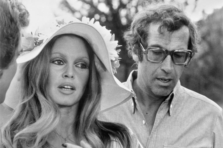 Roger Vadim et Brigitte Bardot en août 1972