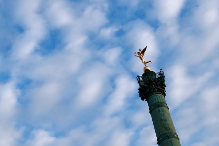 La colonne de Juillet à Paris (Illustration)