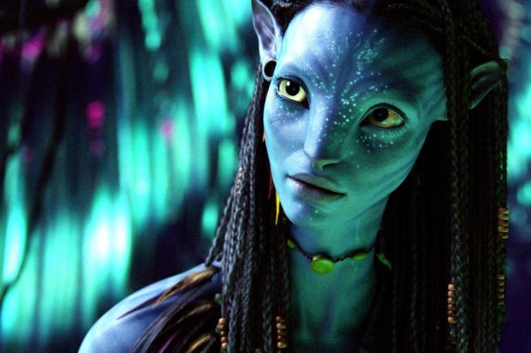 """Neytiri (Zoe Saldana) dans """"Avatar"""""""