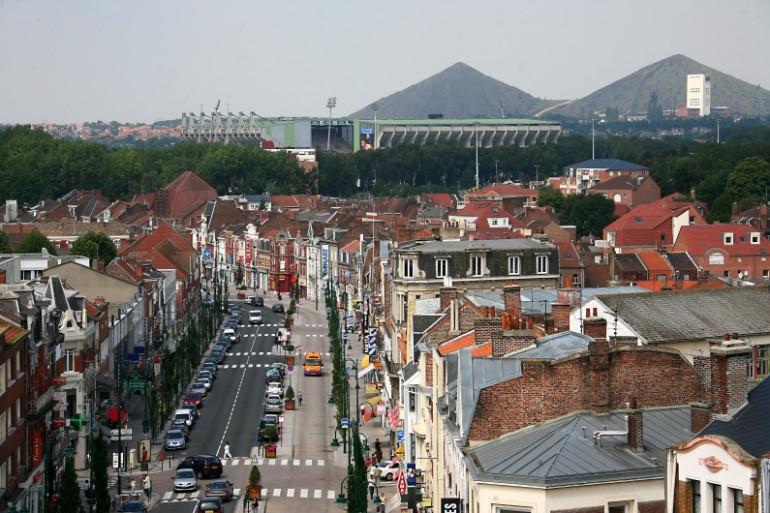Une vue de la ville de Lens (Illustration)