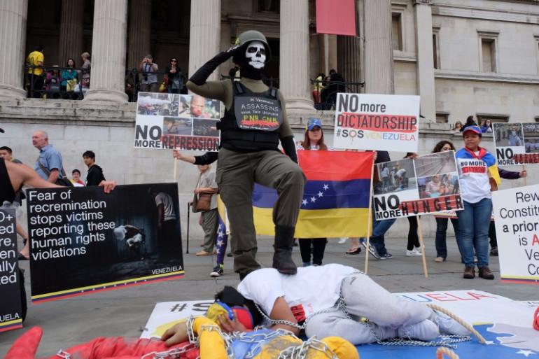 Manifestation de l'opposition au Venezuela le 29 juillet 2017