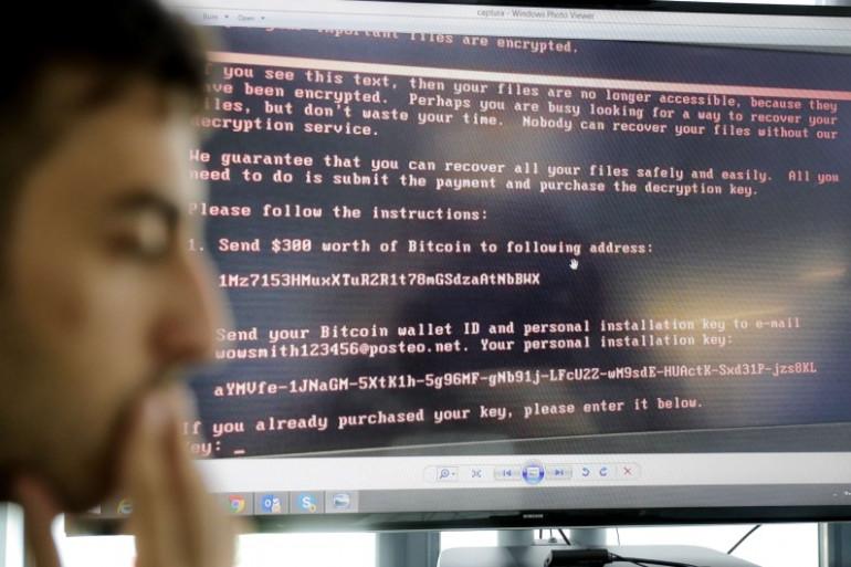 Un ordinateur en Roumanie touché par la cyberattaque perpétrée le 27 juin 2017