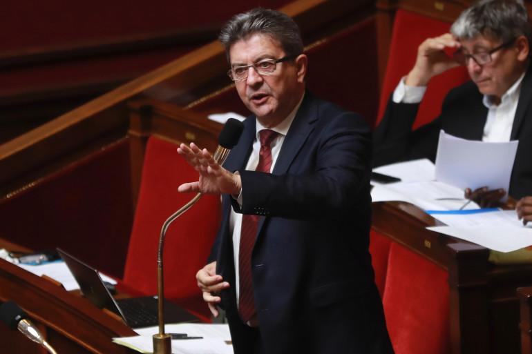 Jean-Luc Mélenchon, le chef du groupe La France insoumise à l'Assemblée nationale, le 26 juillet 2017