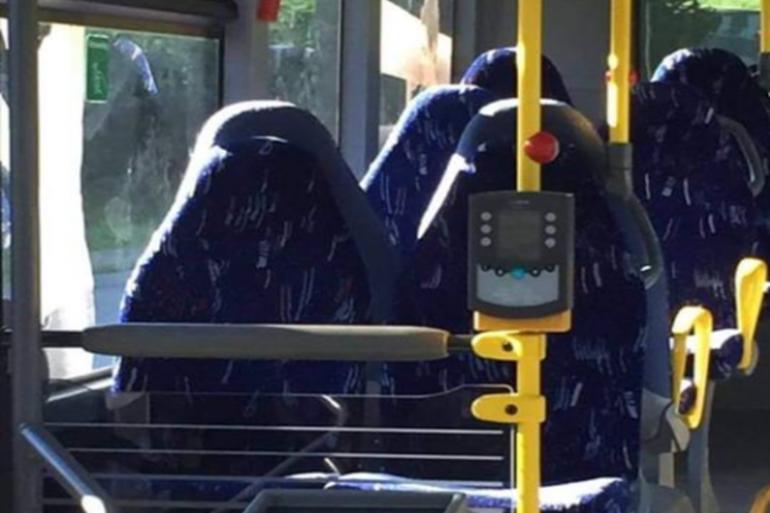 La photo de siège de bus, à l'origine du canular.