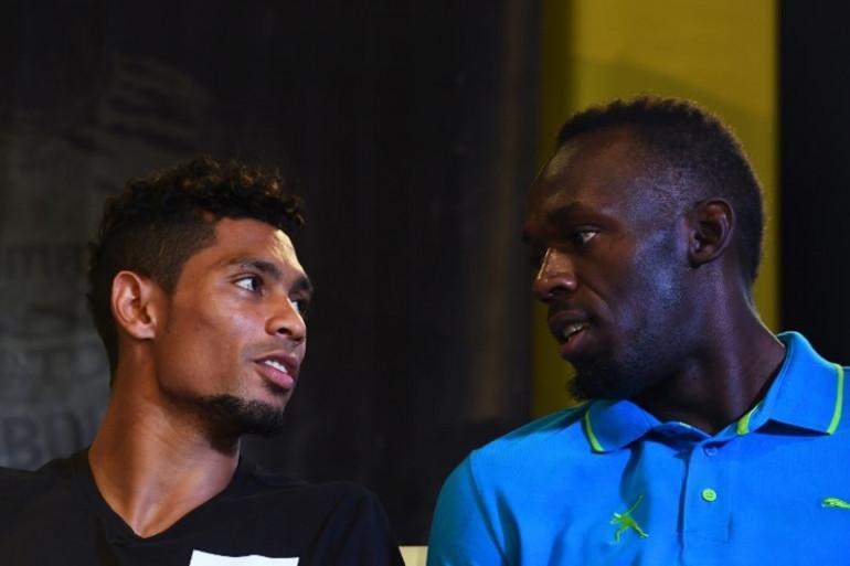 Wayde Van Niekerk et Usain Bolt en juin 2017