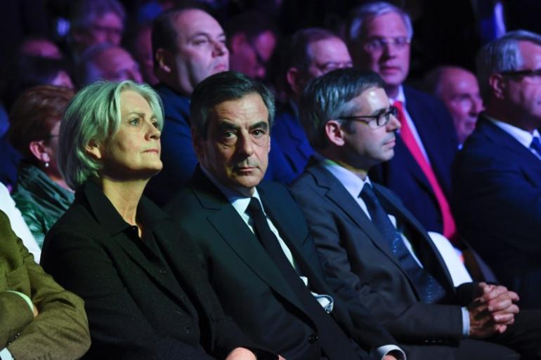 Penelope et François Fillon, le 9 avril 2017.