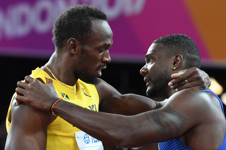 Usain Bolt et Justin Gatlin, le 5 août 2017