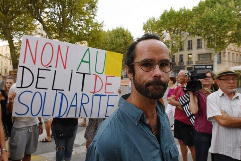 Cédric Herrou devant la cours de justice d'Aix-en-Provence