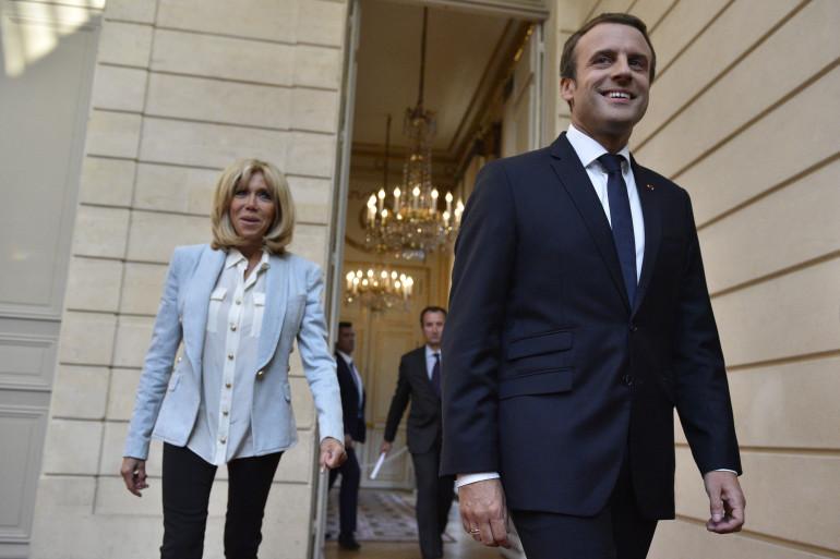 Brigitte et Emmanuel Macron, le 25 juillet 2017