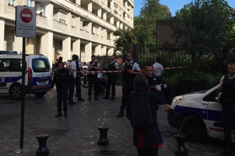 Les lieux de l'incident à Levallois-Perret