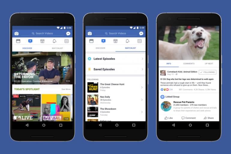 Un aperçu de Watch, la nouvelle plateforme de vidéos de Facebook