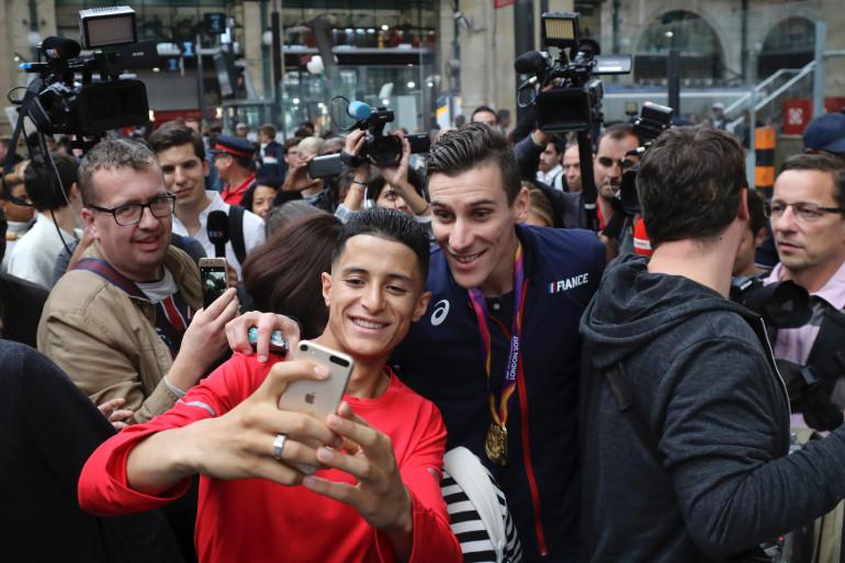 Pierre-Emmanuel Bosse a été accueilli par ses fans à son retour le 12 août 2017
