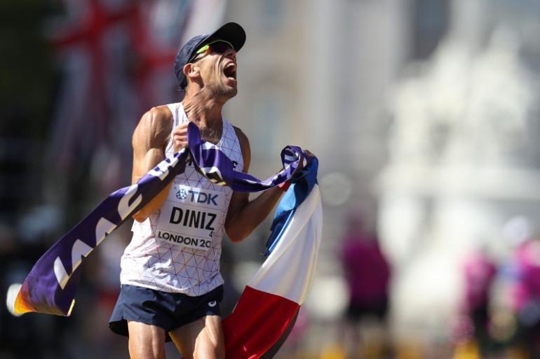 Yohann Diniz savoure son titre de champion du monde, le 13 août 2017
