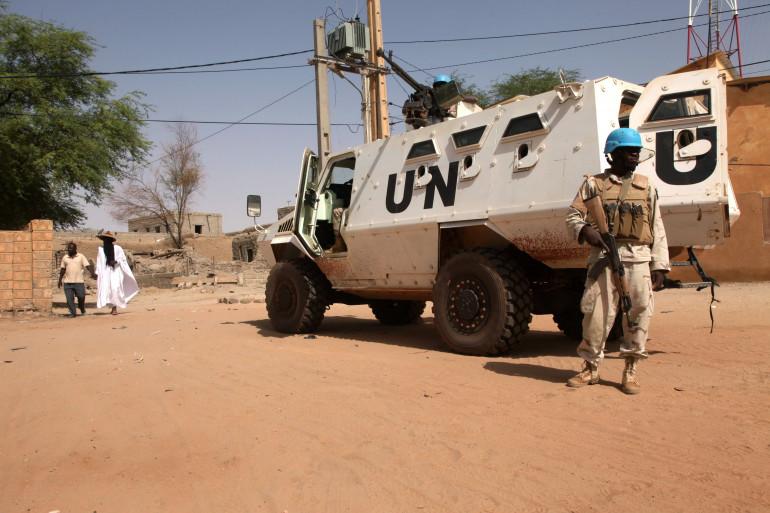 Un Casque bleu au Mali à Tombouctou en septembre 2016