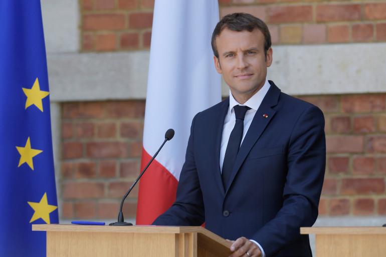 Emmanuel Macron, en Bulgarie le 25 août 2017