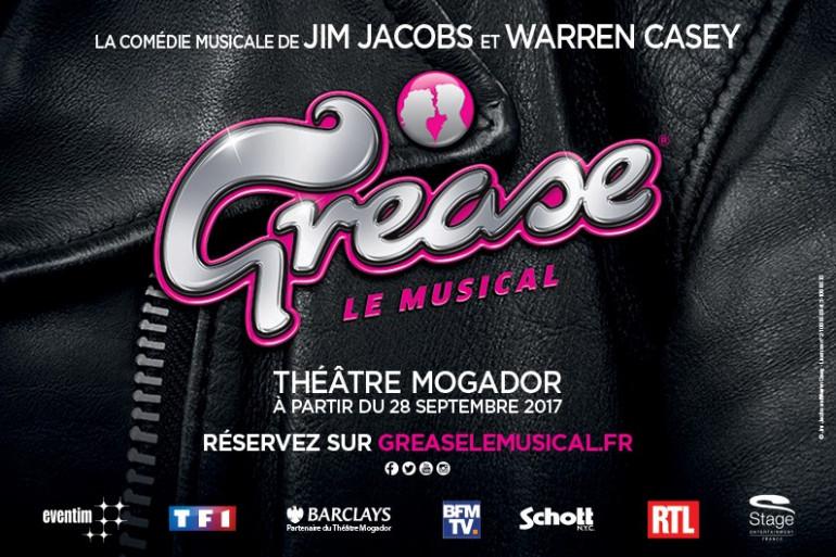 """La comédie musicale """"Grease"""" revient à partir du 28 septembre 2017 au théâtre Mogador"""