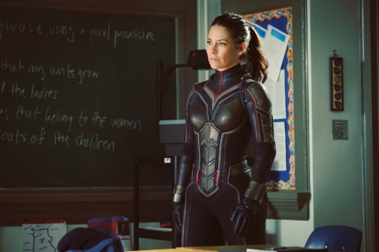 """Evangeline Lilly dans le rôle de la Guêpe dans """"Ant-Man and the Wasp"""""""