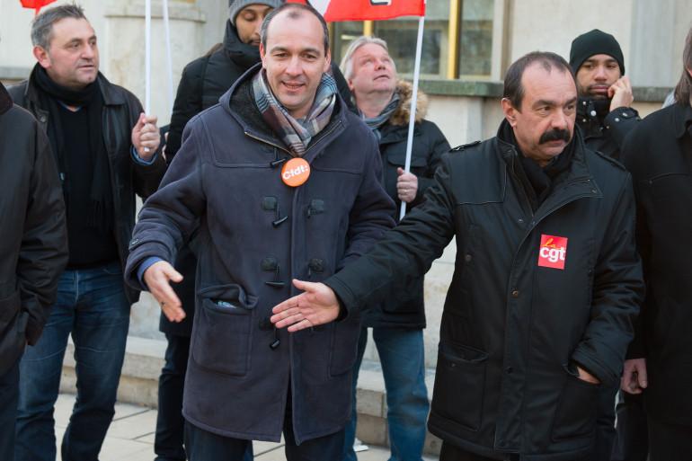 """Laurent Berger (CFDT) et Philippe Martinez (CGT) ont confronté leurs points de vue sur le contenu de la loi El Khomri dans """"Le Grand Débat"""" sur RTL."""