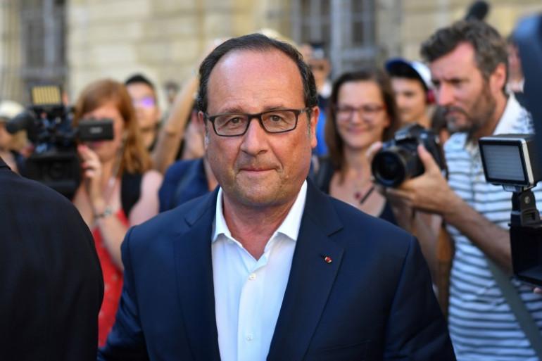 François Hollande en Arles, le 21 juillet 2017
