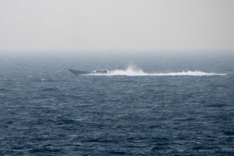 Un bateau de la police maritime (Illustration)