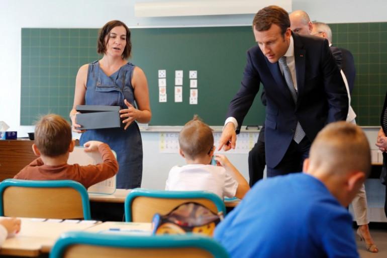 Emmanuel Macron s'est rendu dans une école de Forbach