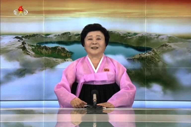 Ri Chun-hee, présentatrice de la télévision d'Etat nord-coréenne