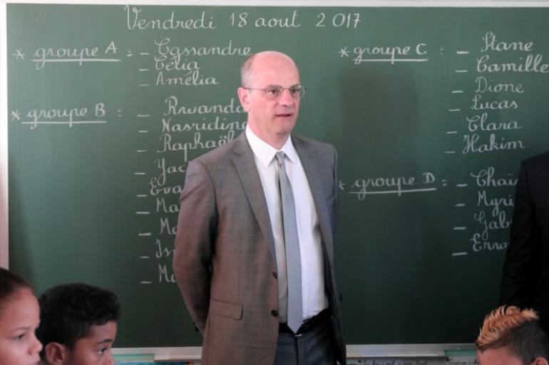 Jean-Michel Blanquer, ministre de l'Éducation nationale le 18 août 2017 à La Réunion