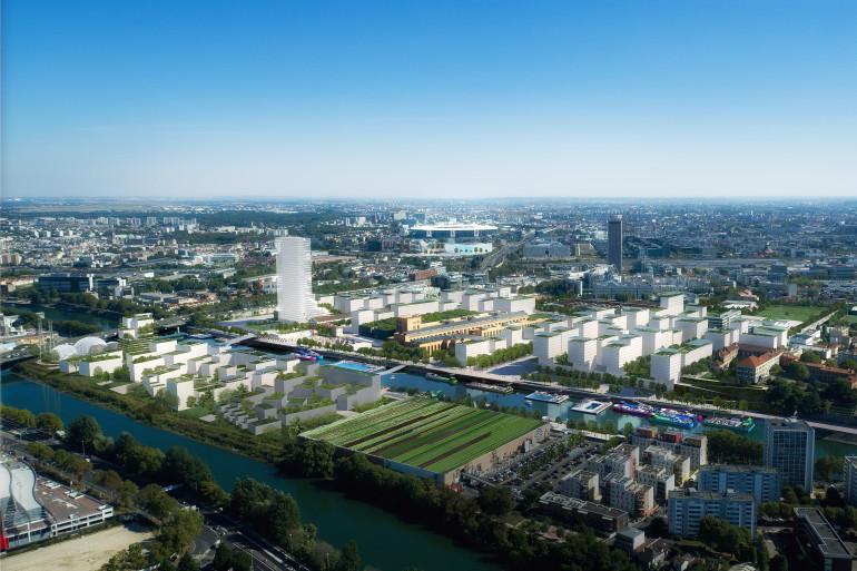 Le village et la piscine olympique seront notamment construits en Seine-Saint-Denis (visuel)