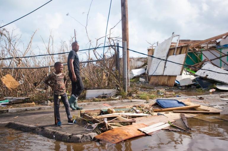Après le passage de l'ouragan Irma, les dégâts sont considérables sur l'île de Saint-Martin