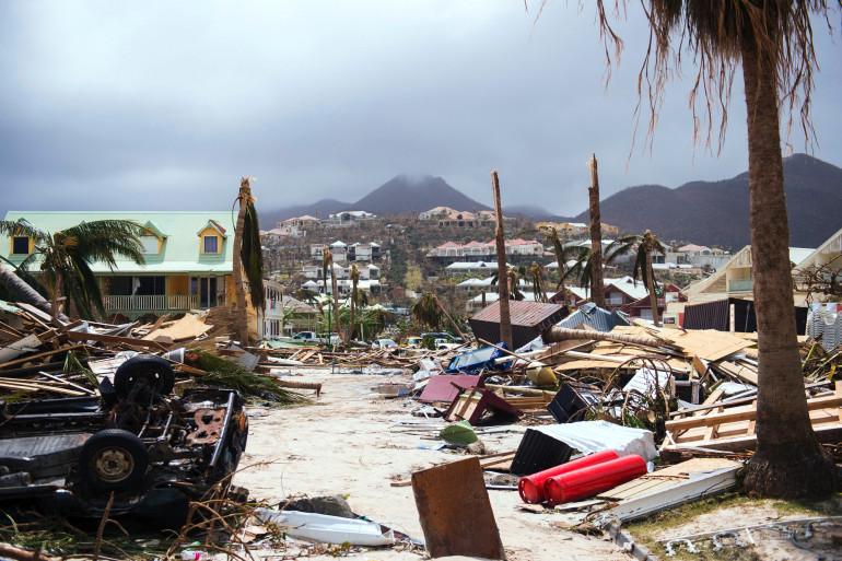 La Baie orientale de Saint-Martin jeudi 7 septembre après le passage d'Irma.