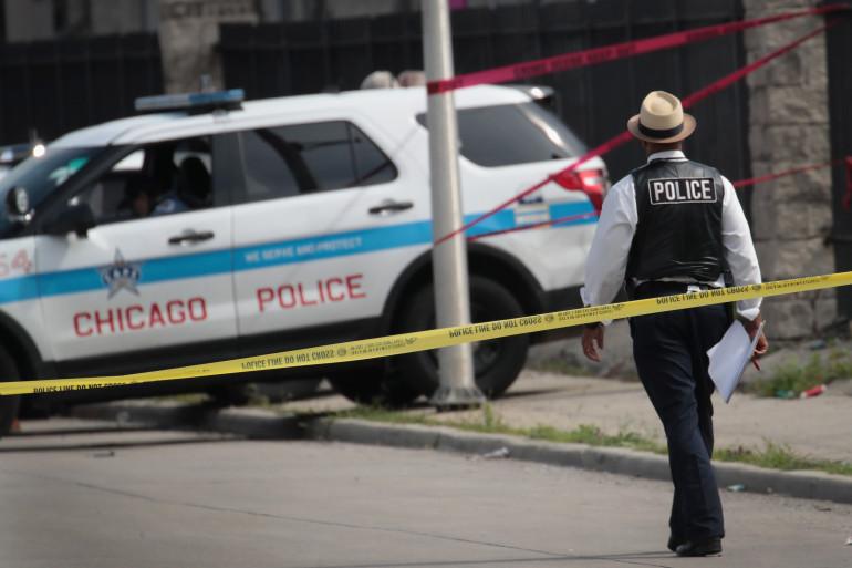Une voiture de police à Chicago, aux États-Unis