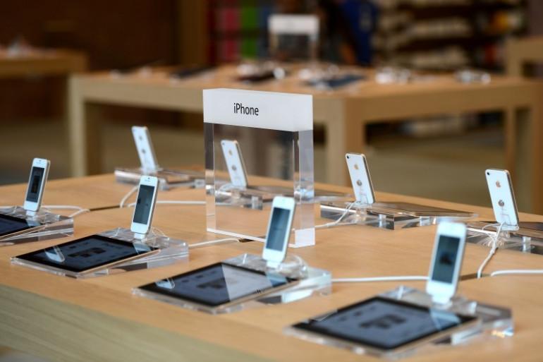 Dans une boutique Apple à Strasbourg (Illustration)