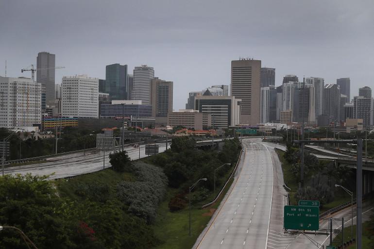 La ville de Miami, désertée avant le passage de l'ouragan Irma, samedi 9 septembre 2017